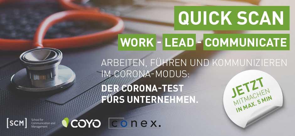 QUICK SCAN WORK-LEAD-COMMUNICATE – Der Corona-Test fürs Unternehmen